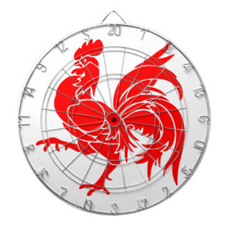 Rooster of Wallonia Dartboard With Darts