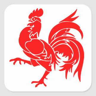 Rooster of Wallonia. Square Sticker