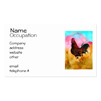 Rooster On the Run Business Cards
