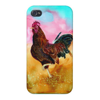 Rooster On the Run iPhone 4 Cover