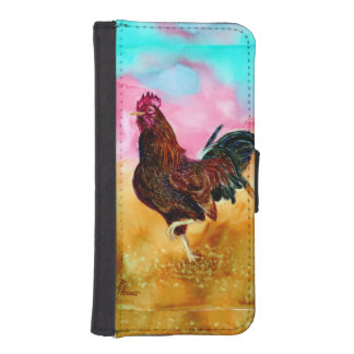 Rooster On the Run iPhone 5 Wallet Cases