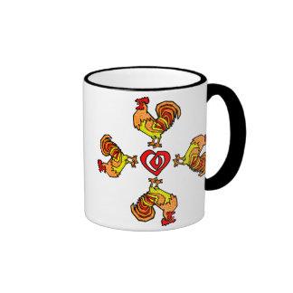 Rooster Pinwheel Mug