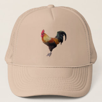Rooster plain trucker hat