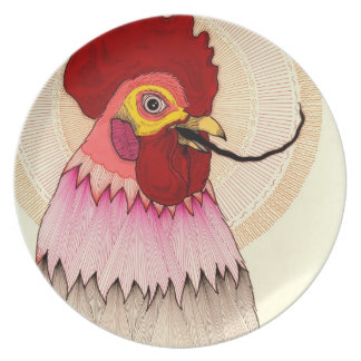 rooster plate