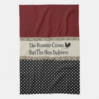 """Rooster Quote"" KITCHEN TOWEL"