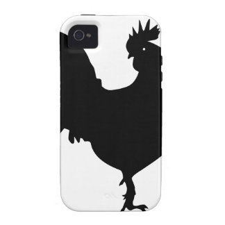 Rooster Silhouette Vibe iPhone 4 Cases