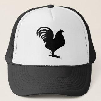 rooster silhouette in paece joy trucker hat