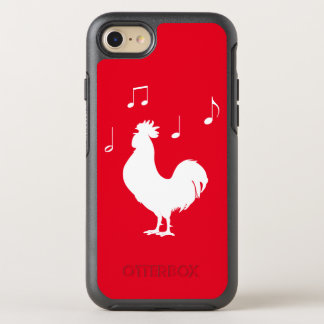 Rooster Silhouette with Music Notes OtterBox Symmetry iPhone 7 Case