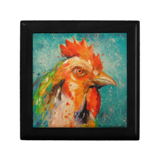 Rooster, Small Square Gift Box