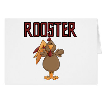 Rooster T-shirts and Gifts Greeting Cards