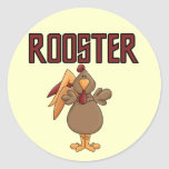 Rooster T-shirts and Gifts Round Sticker