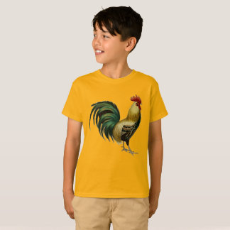 Rooster Tee for the Young Rooster Aficionado