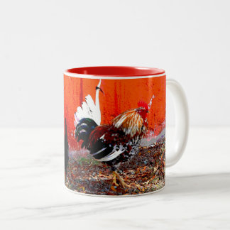 Rooster Two-Tone Coffee Mug