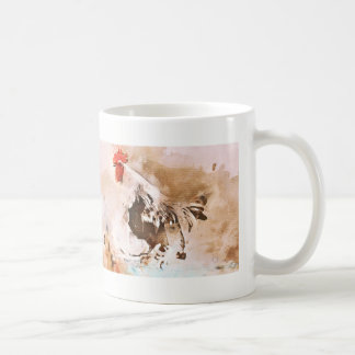 Rooster welcomes the Morning Coffee Mug