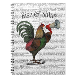 Rooster With Loudhailer 2 Notebooks