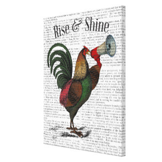 Rooster With Loudhailer Canvas Print