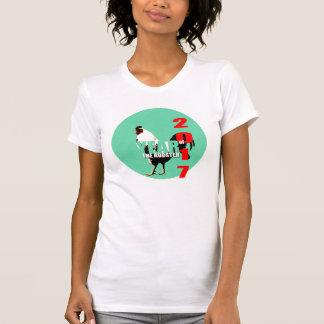 Rooster Year 2017 Green Circle Women Teens Shirt