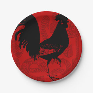Rooster Year 2017 Paper plate 1