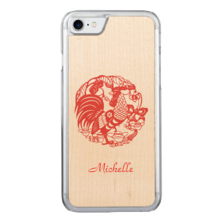 Rooster Year 2017 Wood Iphone Carved iPhone 8/7 Case