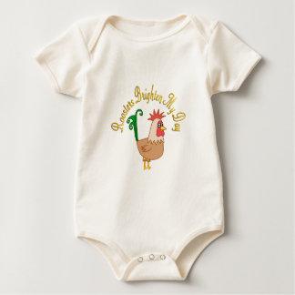 Roosters Brighten My Day Baby Bodysuit