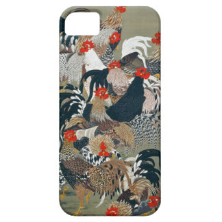 Roosters by Ito Jakuchu iPhone 5 Cases