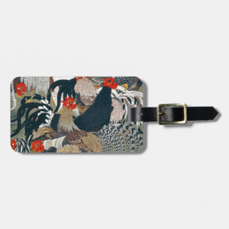 Roosters by Ito Jakuchu Tag For Luggage