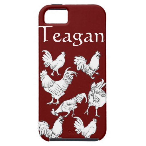 Roosters drawing  design iPhone 5 covers