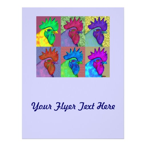 Roosters Gone Wild! Personalized Flyer