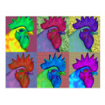 Roosters Gone Wild! Postcard