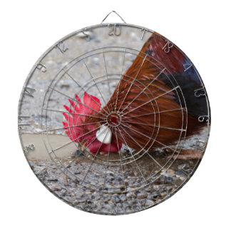 roosters in the farm dartboard