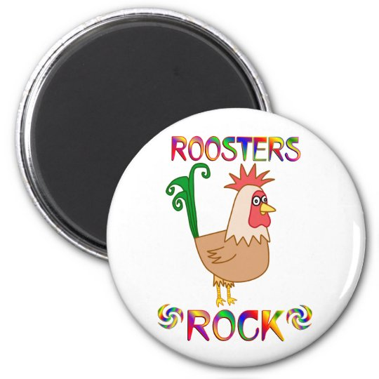 ROOSTERS ROCK MAGNET