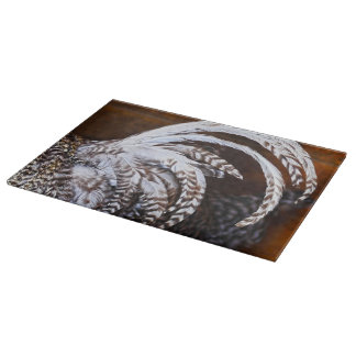 Rooster's Tail GLass Cutting Board