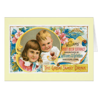 Root Beer Extract Vintage Drink Ad Art Greeting Card
