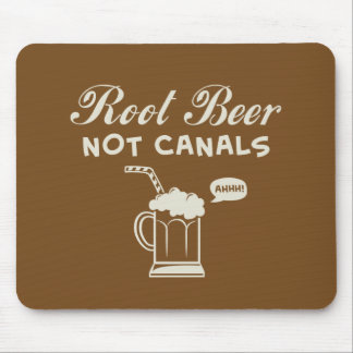 Root Beer Not Canals Mousepad