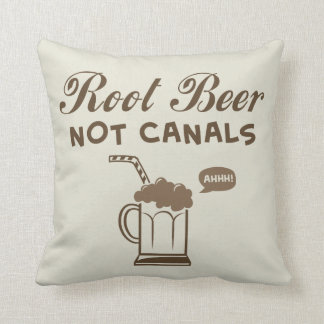Root Beer Not Canals Pillow