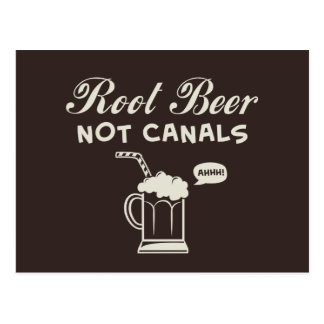 Root Beer Not Canals Post Card