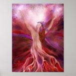 Root Chakra Goddess Fine Art Poster/Print