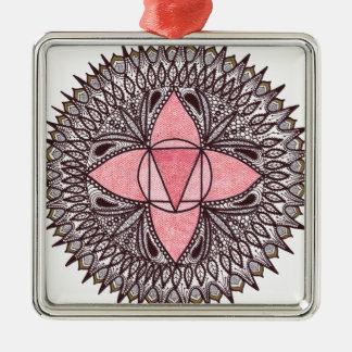 Root Chakra Mandala Christmas Ornament