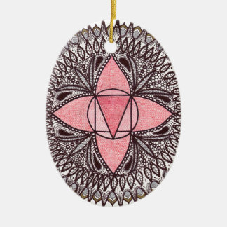 Root Chakra Mandala Christmas Ornament