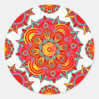 Root Chakra Mandala Round Sticker
