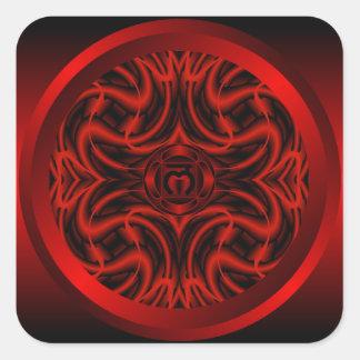 Root Chakra Mandala Sticker
