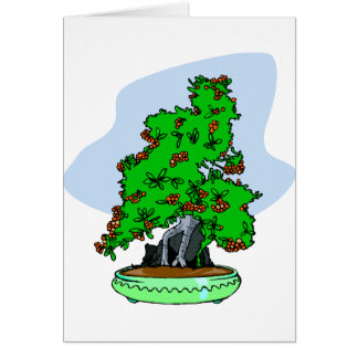 Root Over Rock Flowering Bonsai Greeting Cards