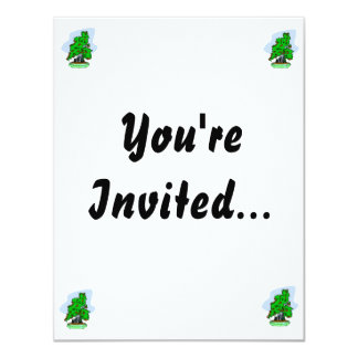 Root Over Rock Flowering Bonsai 11 Cm X 14 Cm Invitation Card