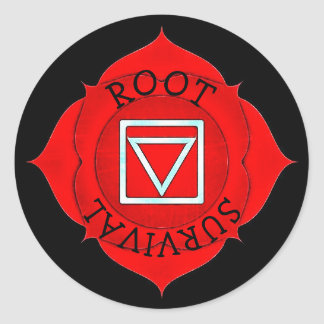 Root Survival Chi Red Chakra Stickers