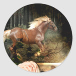 Rooted in God's Love (Horse Stickers) Round Sticker