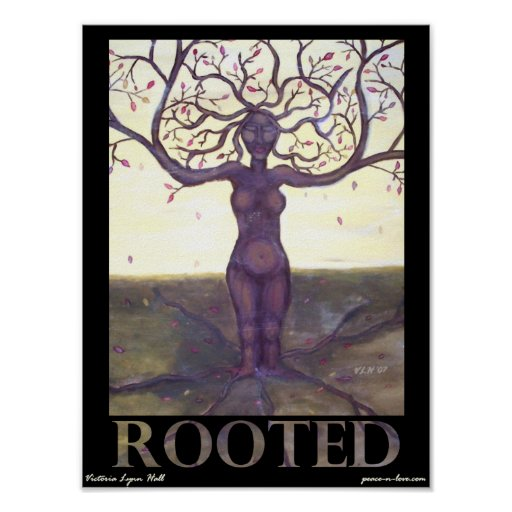 Rooted Tree Goddess Poster