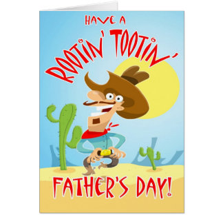 Rootin' Tootin' Father's day card