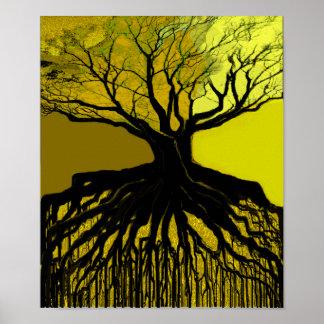 Roots Green Print