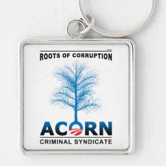 Roots of Corruption Silver-Colored Square Key Ring
