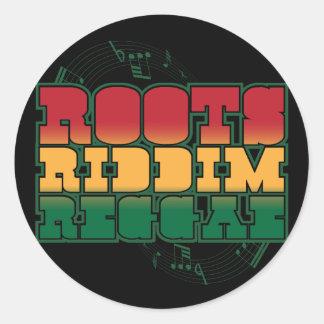 Roots Riddim Reggae Round Sticker